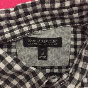 Banana Republic Shirts - Modern Banana Republic Checkered Button-Up Shirt
